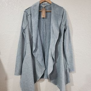 NWT Anama Faux Fur Lined Waterfall Open Cardigan S
